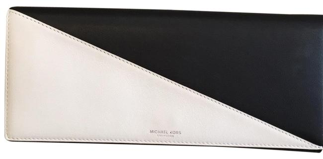 Item - Westcliff Bicolor Black and White Genuine Leather Clutch