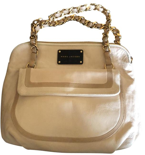 Item - Runway Olga Beige and Tan Leather Satchel