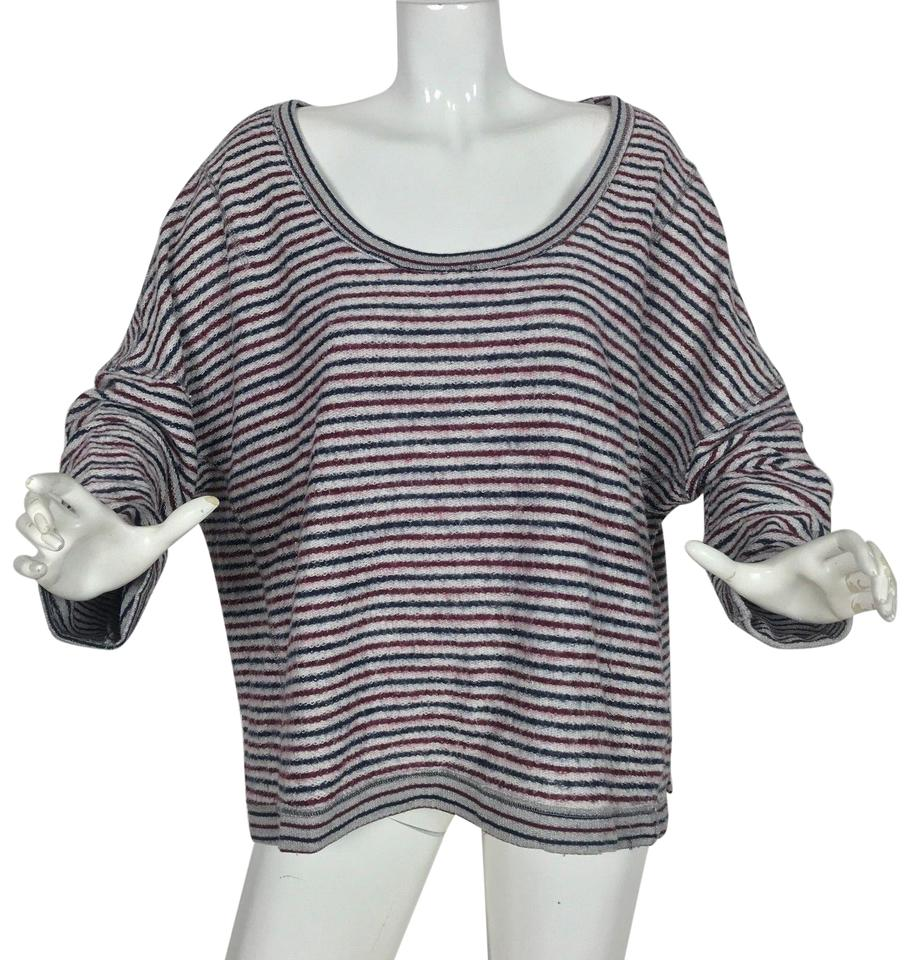 a823d8883 Free People Striped Oversized Women M Multi Color Sweater - Tradesy