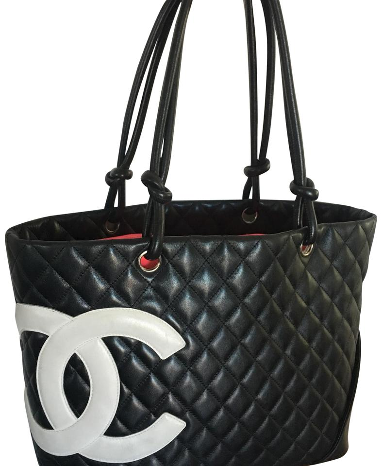 997811432f67 Chanel Cambon Quilted Large Ligne Black Calfskin Leather Tote - Tradesy