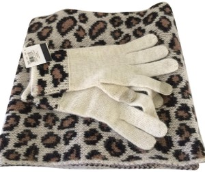 Coach Ocelot Scarf and Glove Set