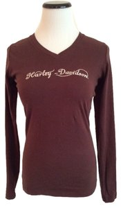 Harley Davidson T Shirt Brown