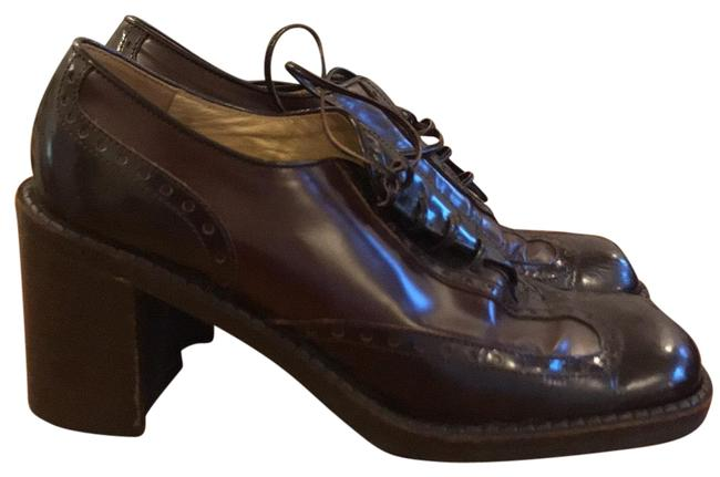 Item - Dark Brown and Burgundy Oxford with Heel Formal Shoes Size EU 37 (Approx. US 7) Regular (M, B)