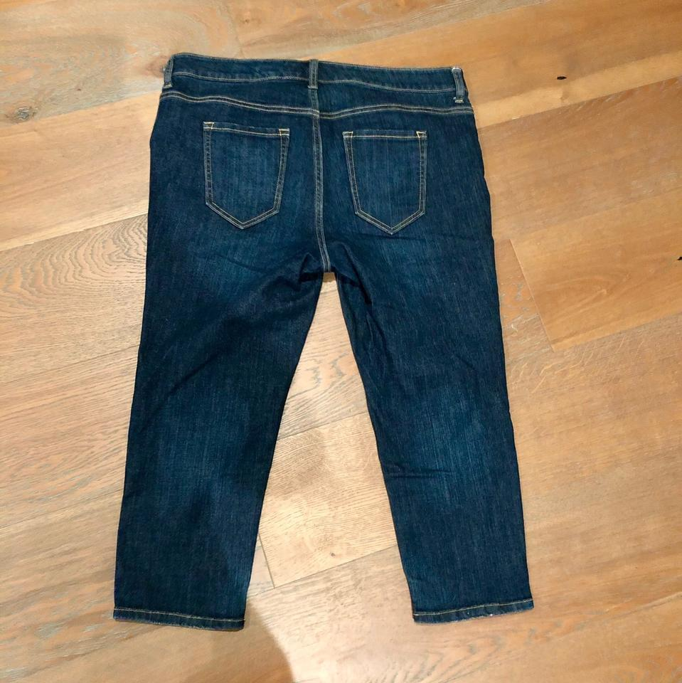 165bb0a3cca Old Navy Mid-rise Plus-size Dark Wash Plus-16 Regular Capri Cropped Jeans