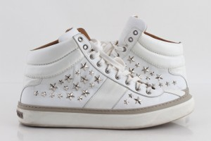 Jimmy Choo White Star-embellished High-top Sneakers Shoes