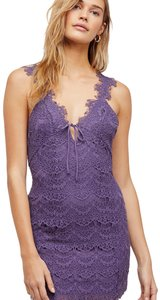 Free People Bodycon Lace Strappy V-neck Keyhole Dress
