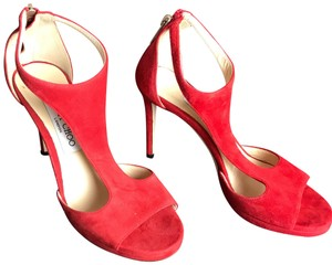 Jimmy Choo Red Suede Formal