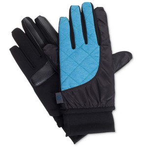 Isotoner Quilted SleekHeat smartDRI smarTouch Tech Packable Ski Gloves S M