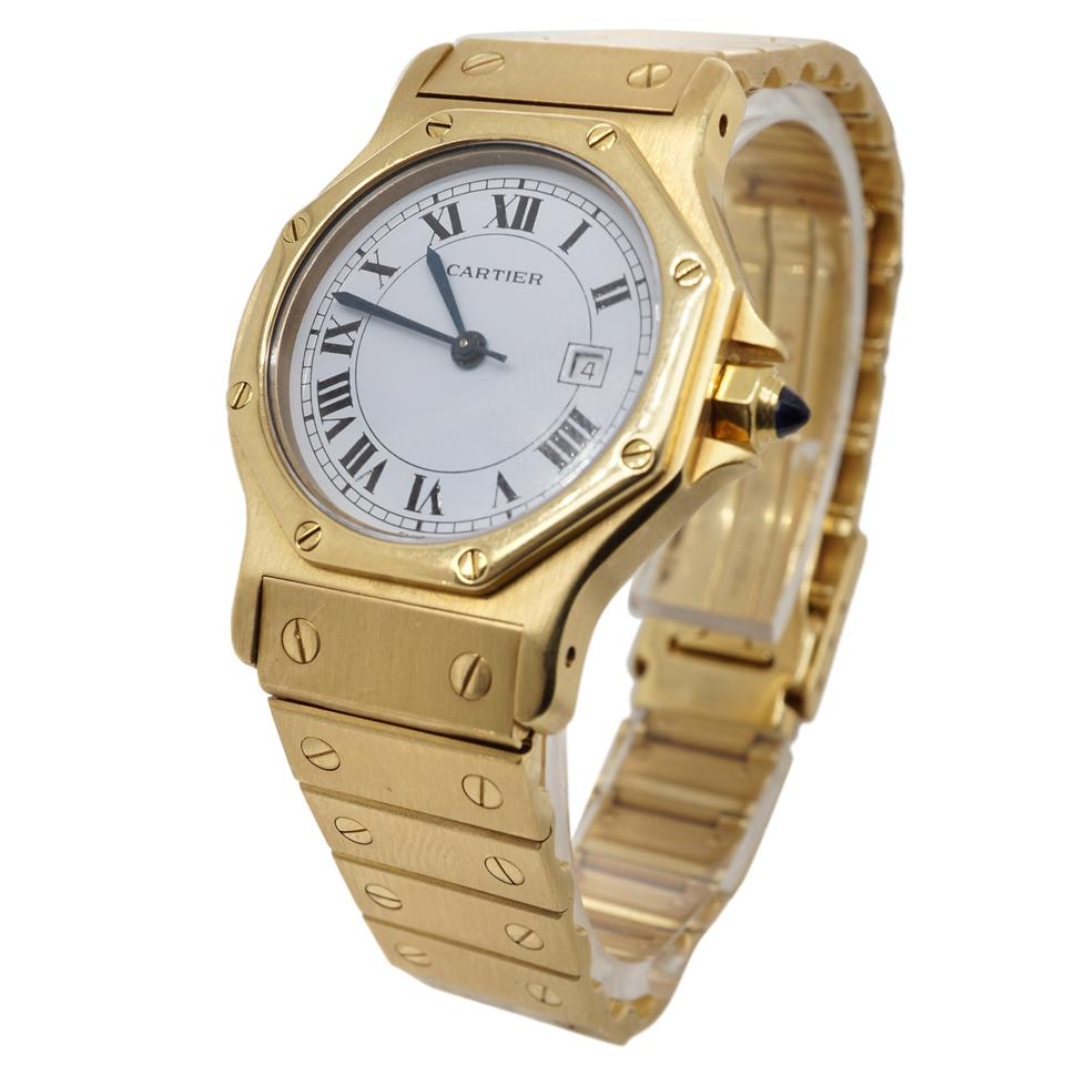 818256b293c2 Cartier Cartier Santos Octagon 18K Yellow Gold Automatic Women s Watch  Image 0 ...
