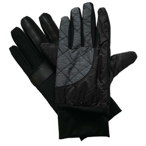 Isotoner Quilted SleekHeat smartDRI smarTouch Tech Packable Ski Gloves L XL
