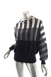 tomas maier Stripe Funnel Neck Sweater