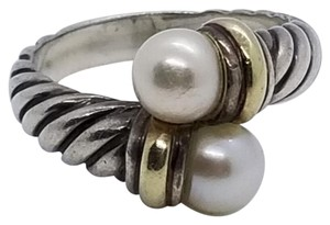 David Yurman David Yurman silver 14K yellow gold Pearl ring