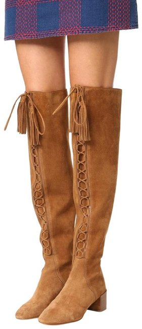 Item - Camel Harris Lace Up Over The Knee Boots/Booties Size EU 38 (Approx. US 8) Regular (M, B)