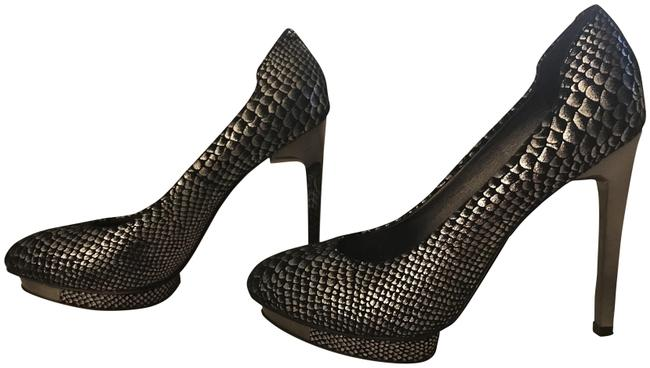 Item - Silver Snake Willoe Platform Pumps Size US 6.5 Regular (M, B)