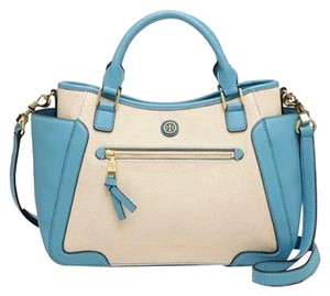 Tory Burch Satchel in Natural and blue
