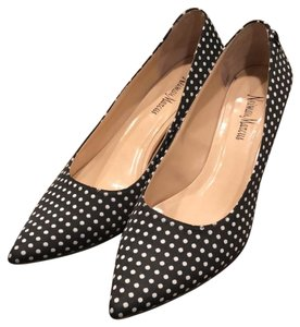 Neiman Marcus black with white dots Pumps