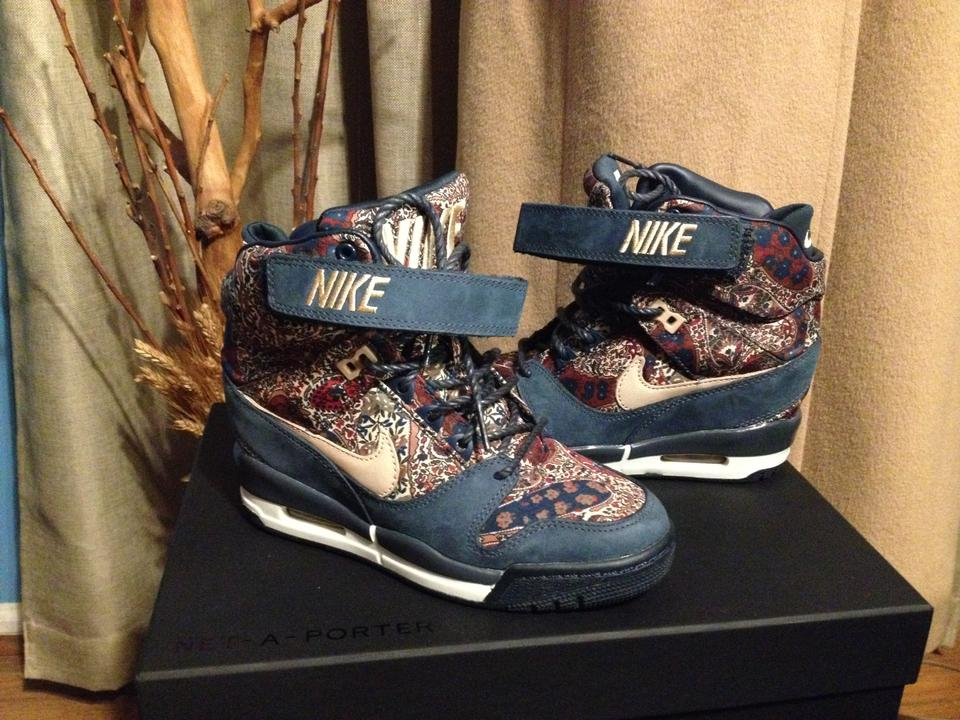 newest collection 8e464 cad8f Nike Blue   Tan   Paisley Limited Edition Air Revolution Sky Hi ...