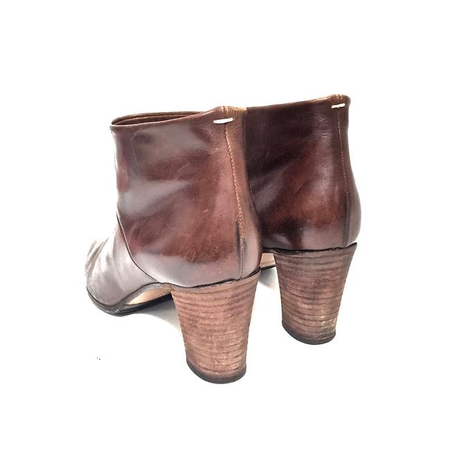 Maison Margiela Brown Distressed Leather Round Boots/Booties Size EU 39.5 (Approx. US 9.5) Regular (M, B) Maison Margiela Brown Distressed Leather Round Boots/Booties Size EU 39.5 (Approx. US 9.5) Regular (M, B) Image 11