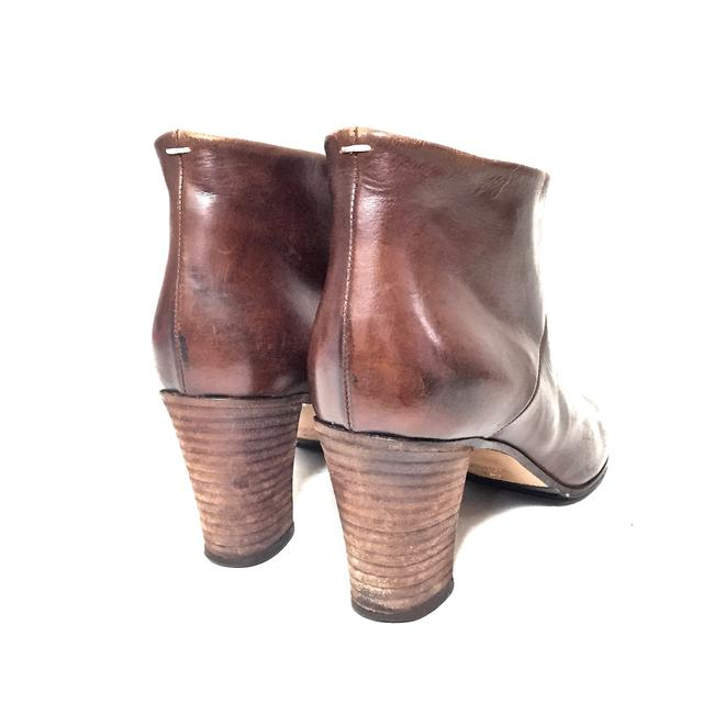 Maison Margiela Brown Distressed Leather Round Boots/Booties Size EU 39.5 (Approx. US 9.5) Regular (M, B) Maison Margiela Brown Distressed Leather Round Boots/Booties Size EU 39.5 (Approx. US 9.5) Regular (M, B) Image 10