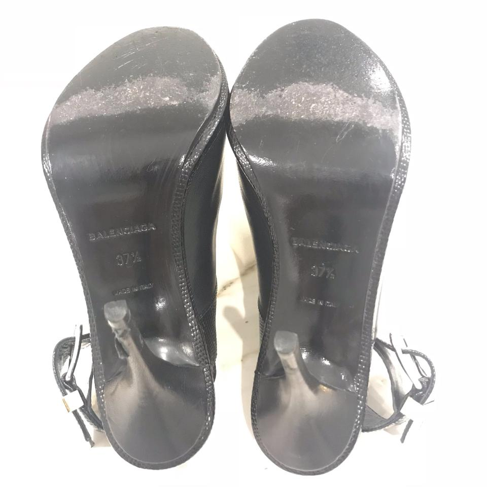 d8038087dd60 Balenciaga Embossed Glove Sandals Size EU 37.5 (Approx. US 7.5 ...