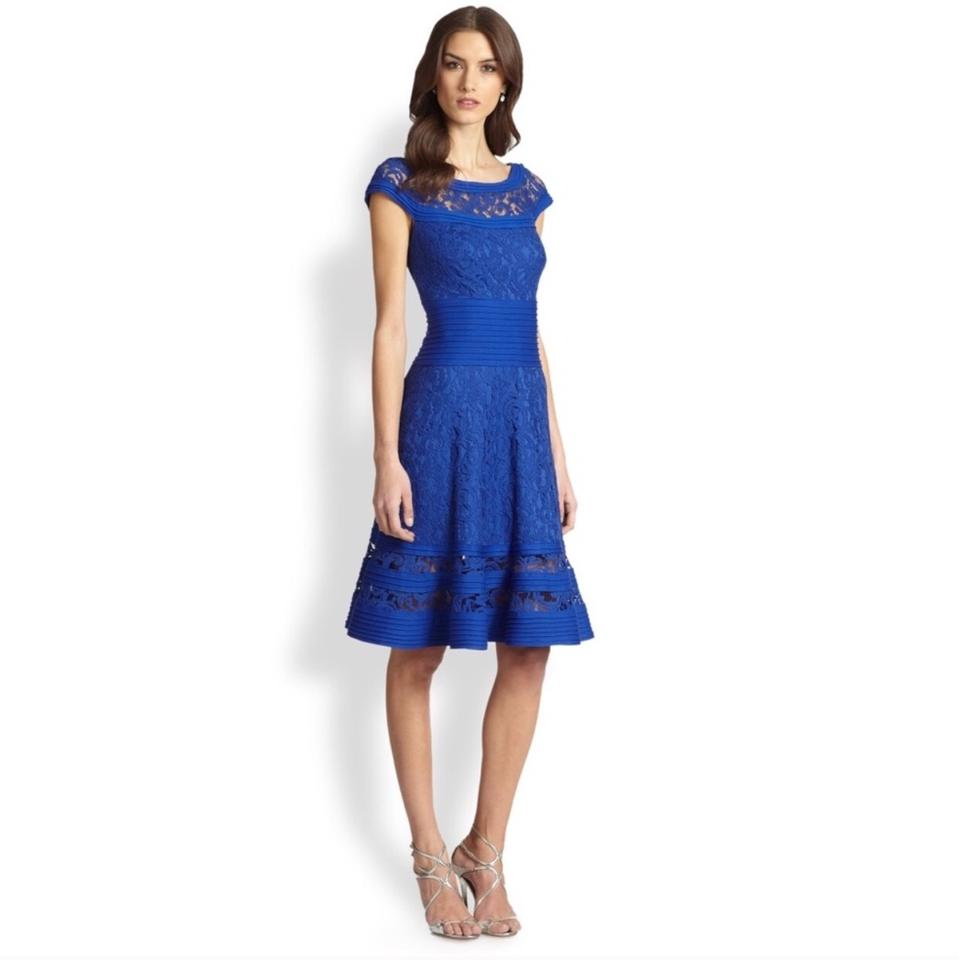 Tadashi Shoji Royal Blue Tail Formal Bridesmaid Mob Dress Size 4 S