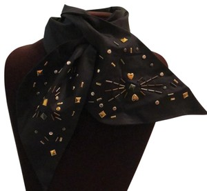 Henri Bendel self tie jeweled scarf
