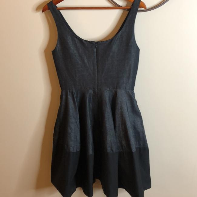 Gap Dark Chambray Black Grey And Sleeveless Scoopneck Fit and Flare Mid-length Cocktail Dress Size 6 (S) Gap Dark Chambray Black Grey And Sleeveless Scoopneck Fit and Flare Mid-length Cocktail Dress Size 6 (S) Image 8