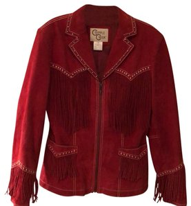 Cripple Creek red leather Leather Jacket