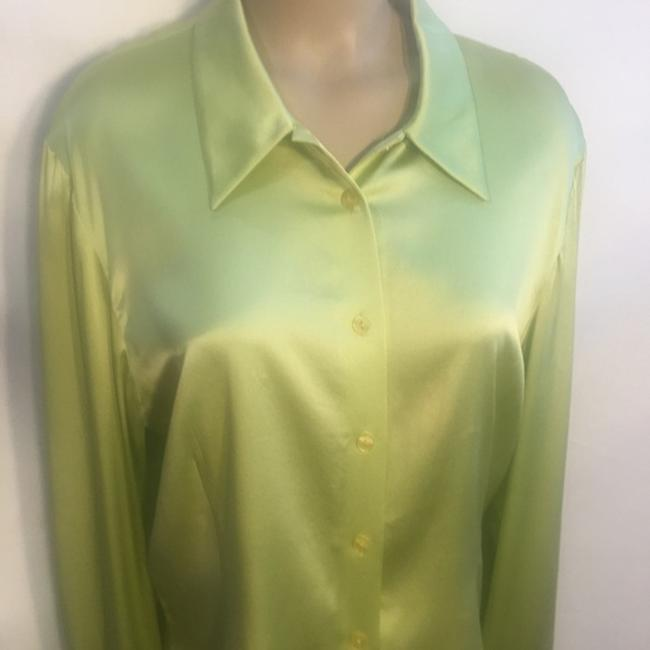 Oscar de la Renta Button Down Shirt Green