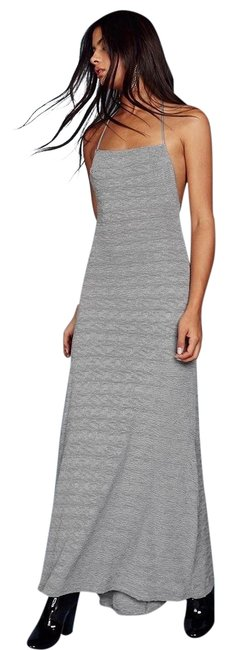 Item - Silver Gray XL Slayer Maxi Halter Long Cocktail Dress Size 16 (XL, Plus 0x)