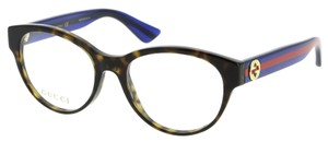 Gucci NEW Gucci 0039O Brown Oversized Rounded Square Eyeglasses Frames