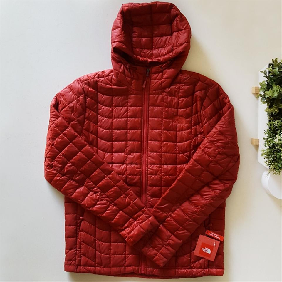 The North Face Red Mens Thermoball Hoodie Jacket Activewear Size 8 M