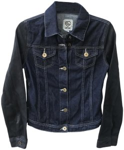 Carmar Waxed Cropped Dark Fitted navy Womens Jean Jacket