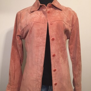 Live A Little pink Leather Jacket