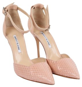 Manolo Blahnik Pointed Toe Pink Sandals