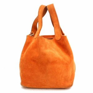 Hermès Lindy Cabas Evelyne Birkin Kelly Tote in Orange