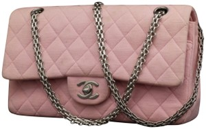 Chanel Classic Suede Caviar Lambskin Jersey Shoulder Bag