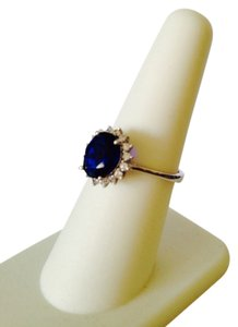 Other Blu Sapphire Simulant & Cubic Zirconia Ring, Size 7