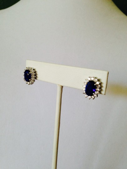 Other Blu Sapphire Simulant & Cubic Zirconia Ring, Size 7 Image 5