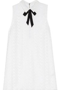 Alice + Olivia short dress white with black embellishment on Tradesy