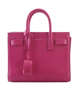 Saint Laurent Leather Yves Satchel in Pink