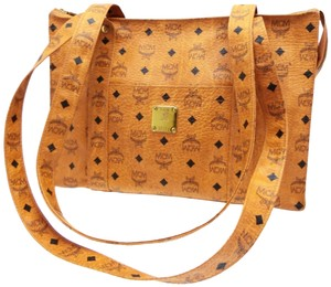 MCM Shopper Monogram Anya Liz Backpack Tote in Brown