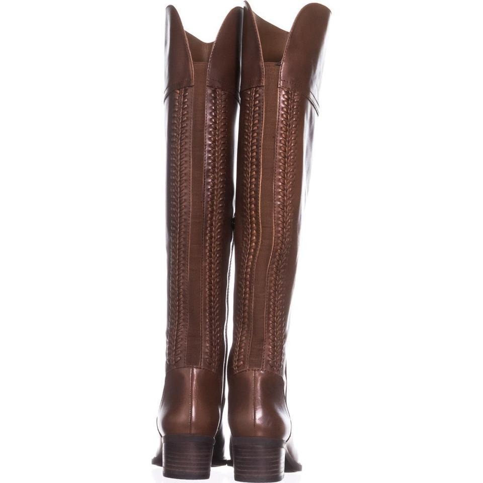 78d48a98863 Vince Camuto Brown Bendra Over-the-knee Woven 323 Russet   35 Boots Booties  Size US 5.5 Regular (M