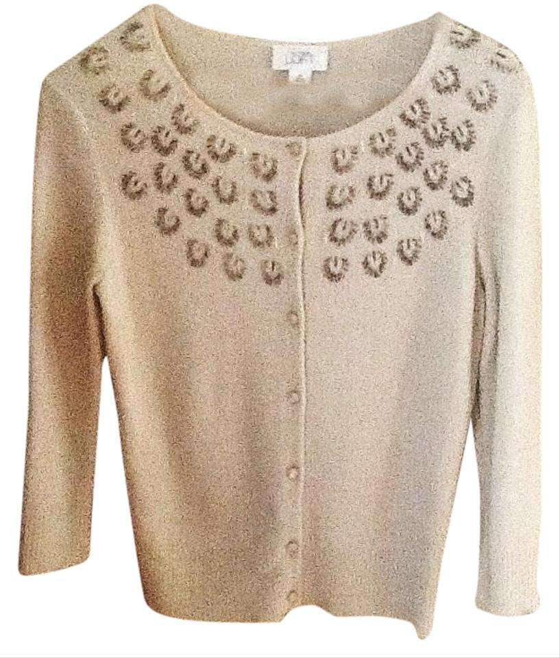 Ann Taylor Loft Cardigan Cream Sweater Tradesy