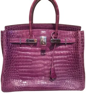 Hermès Tote in purple