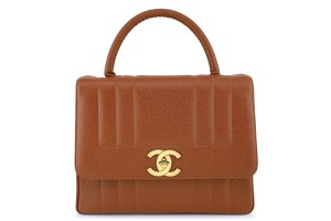 Chanel Kelly Rare Vintage Top Tote in Brown