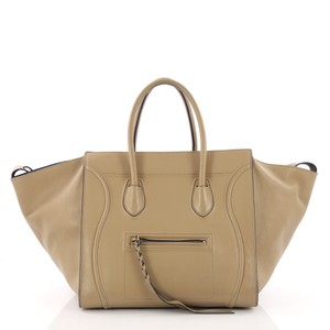 Céline Leather Tote in tan