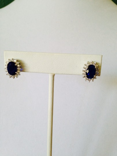 Other Blue Sapphire Simulant & Cubic Zirconia Earrings Image 3
