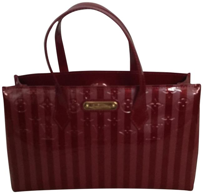 Item - Wilshire Tote M91702 Red Patent Leather Shoulder Bag