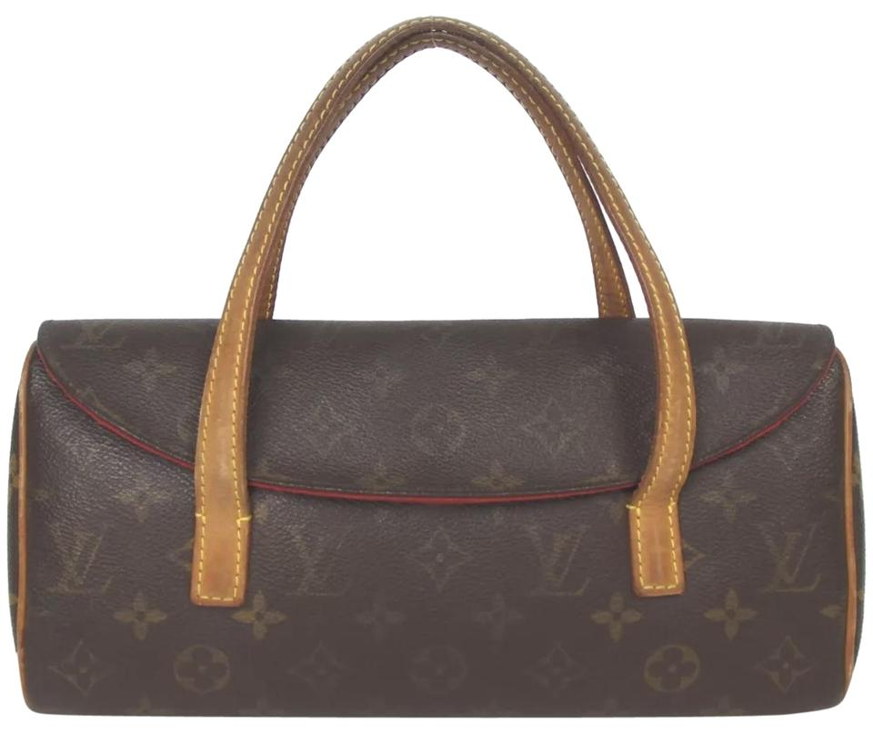 4ee39352772b Louis Vuitton Sonatine Classic Lv Monogram Brown Red Leather Canvas Baguette